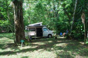 Coffee finca camping, Honduras