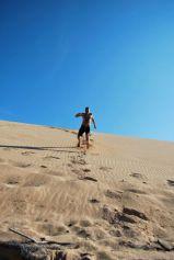 Jeremy dune-running, Taroa, La Guajira, Colombia