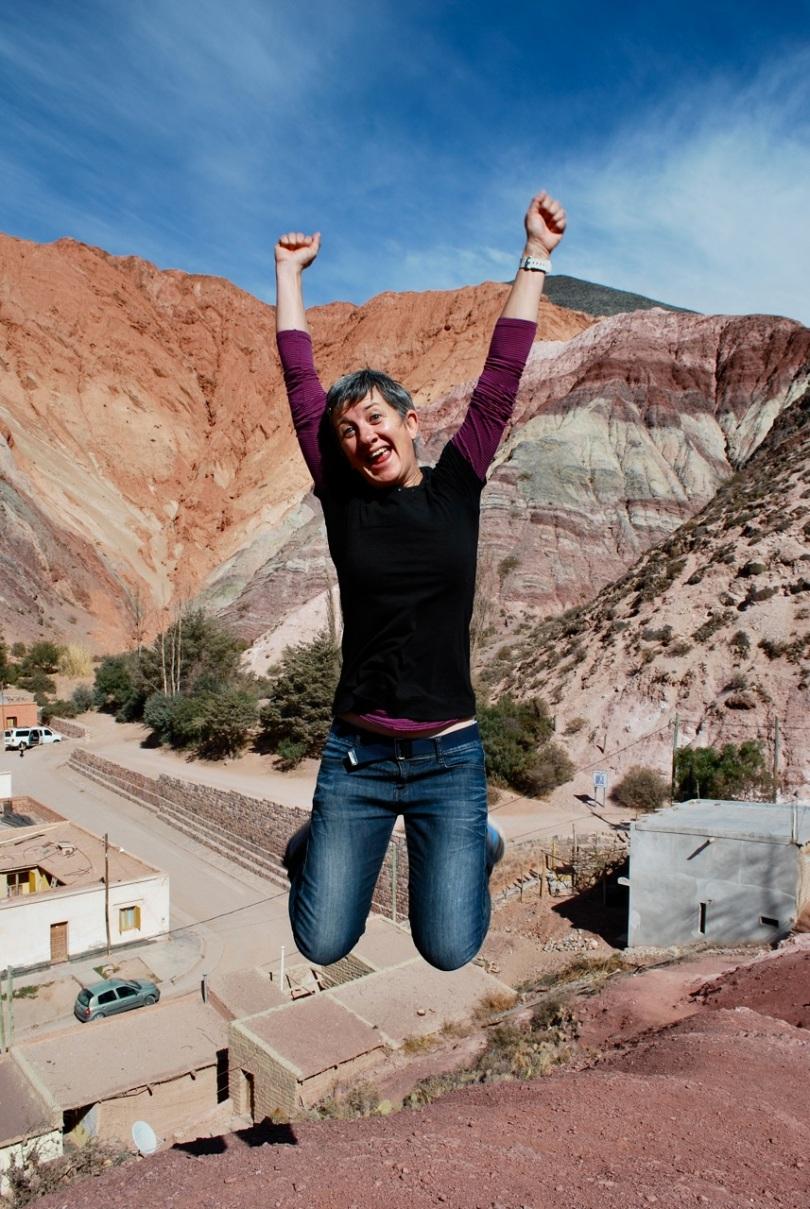 Paula jumps for joy