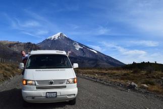 Volcano Lanin, Chile-Argentina border